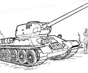 Coloriage et dessins gratuit Tank en ligne à imprimer