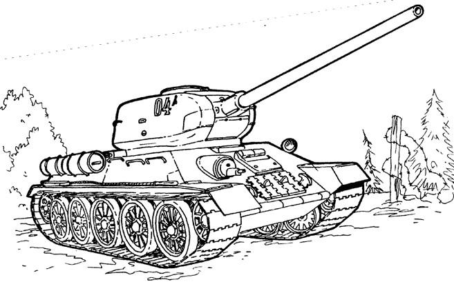 Coloriage et dessins gratuits Tank en ligne à imprimer