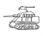 Coloriage Tank facile