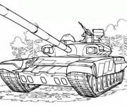 Coloriage et dessins gratuit Tank maternelle à imprimer