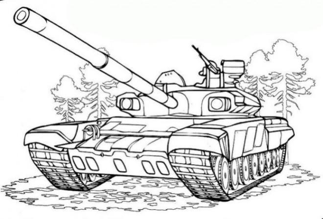 Coloriage et dessins gratuits Tank maternelle à imprimer