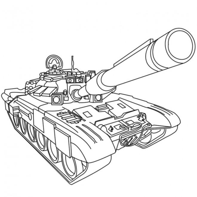 Coloriage et dessins gratuits Tank militaire à imprimer