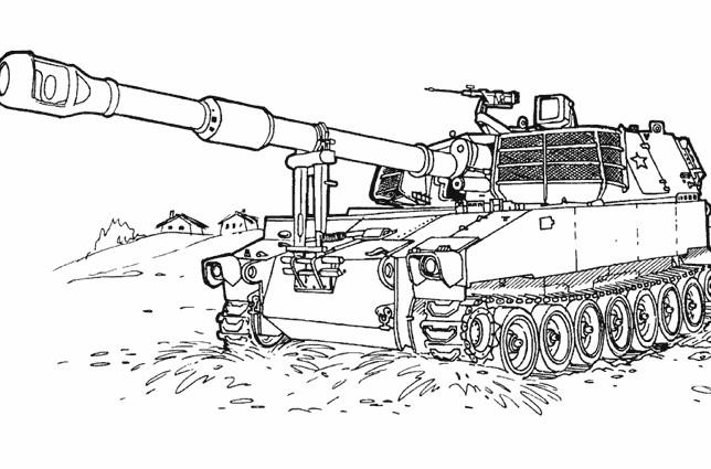 Coloriage et dessins gratuits Tank militaire facile à imprimer