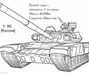 Coloriage et dessins gratuit Tank militaire stylisé à imprimer