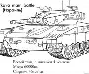 Coloriage et dessins gratuit Tank puissante à imprimer