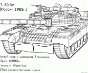 Coloriage Tank Russe