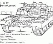 Coloriage et dessins gratuit Tank Russe à imprimer