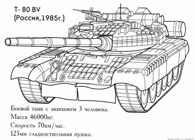 Coloriage et dessins gratuits Tank Russe à imprimer