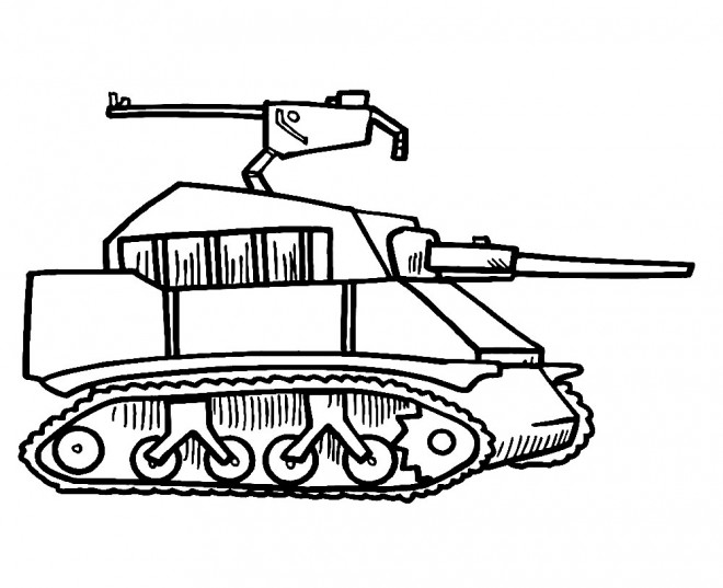 Coloriage et dessins gratuits Tank simple dessin à imprimer