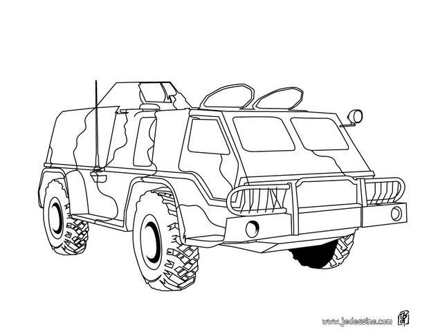 Coloriage et dessins gratuits Véhicule blindé militaire à imprimer