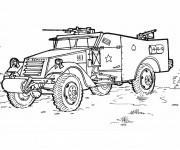Coloriage et dessins gratuit Véhicule de guerre à imprimer