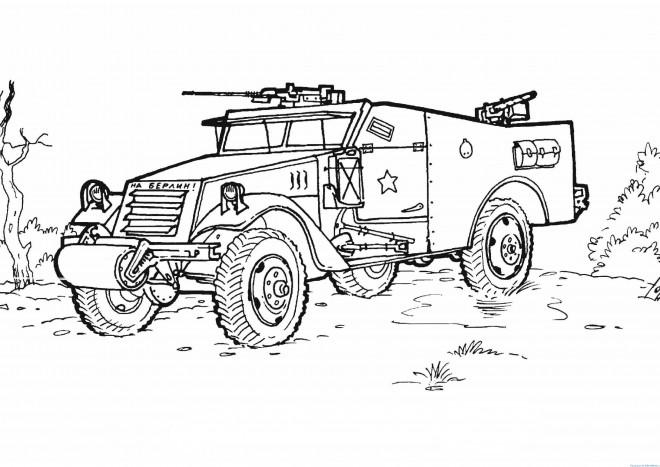Coloriage et dessins gratuits Véhicule de guerre à imprimer