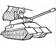 Coloriage Véhicule militaire