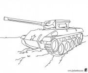 Coloriage et dessins gratuit Véhicule militaire en couleur à imprimer