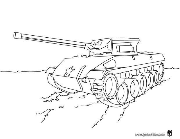 Coloriage et dessins gratuits Véhicule militaire en couleur à imprimer