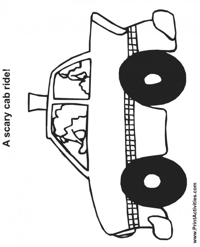 Coloriage et dessins gratuits Chauffeur de Taxi fou à imprimer