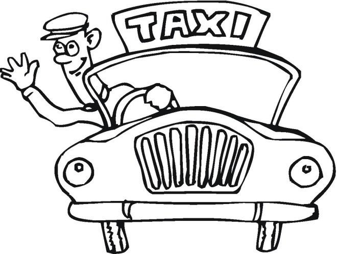 Coloriage et dessins gratuits Chauffeur de Taxi te salue à imprimer
