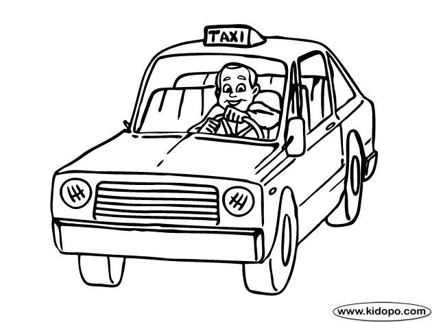 Coloriage et dessins gratuits Le chauffeur et Taxi à imprimer