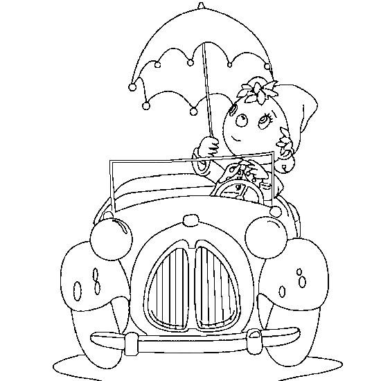 Coloriage et dessins gratuits pinocchio conduit sa voiture à imprimer