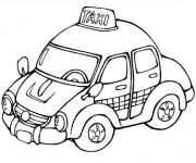 Coloriage Taxi 10