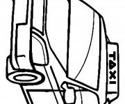 Coloriage Taxi 19