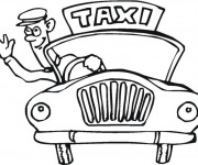 Coloriage Taxi 8