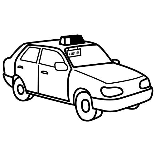 Coloriage et dessins gratuits Taxi à colorier en Jaune à imprimer