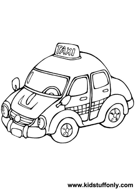Coloriage Taxi à Londres Dessin Gratuit à Imprimer