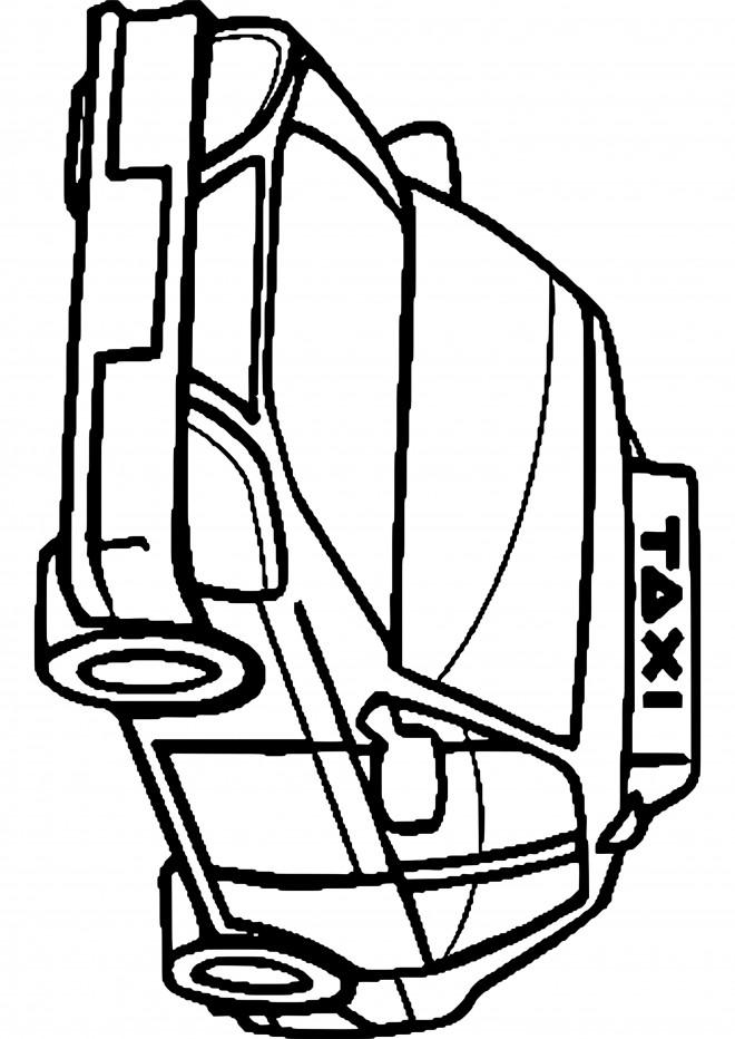 Coloriage et dessins gratuits Taxi Auto de transport publique à imprimer
