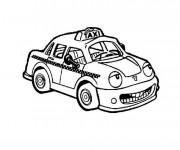 Coloriage et dessins gratuit Taxi avec un visage à imprimer