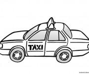 Coloriage Taxi en couleur