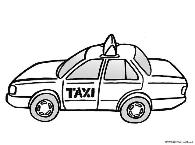 Coloriage et dessins gratuits Taxi en couleur à imprimer