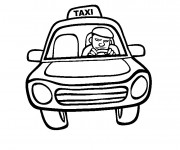 Coloriage Taxi facile