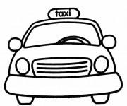 Coloriage et dessins gratuit Taxi Jaune à imprimer