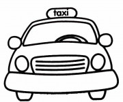 Coloriage Taxi Jaune