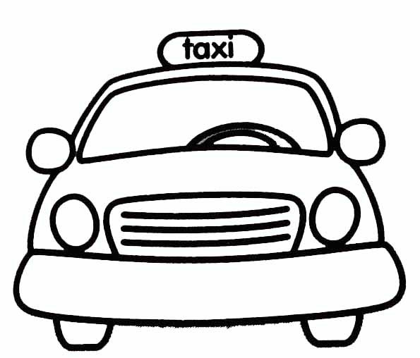 Coloriage et dessins gratuits Taxi Jaune à imprimer