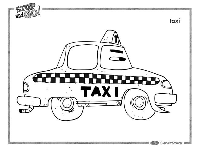 Coloriage et dessins gratuits Taxi Londres pour enfant à imprimer