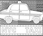 Coloriage Taxi New York