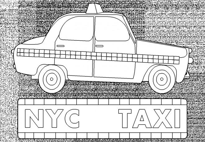 Coloriage Gratuit New York.Coloriage Taxi New York Dessin Gratuit A Imprimer