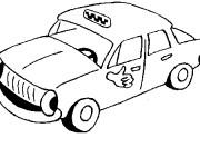 Coloriage et dessins gratuit Taxi personnalisé à imprimer