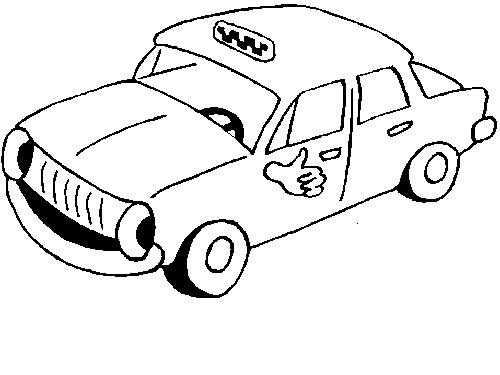 Coloriage et dessins gratuits Taxi personnalisé à imprimer