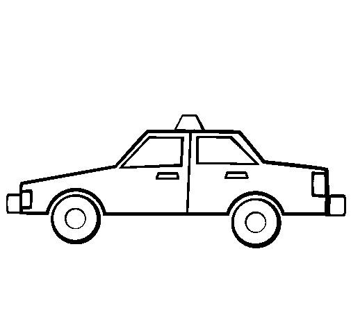 Coloriage et dessins gratuits Taxi simple à imprimer