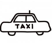 Coloriage Taxi vectoriel