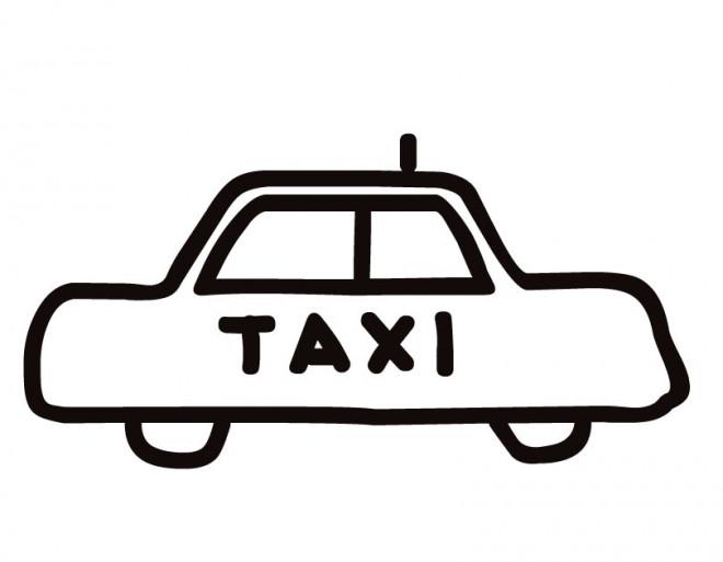 Coloriage et dessins gratuits Taxi vectoriel à imprimer