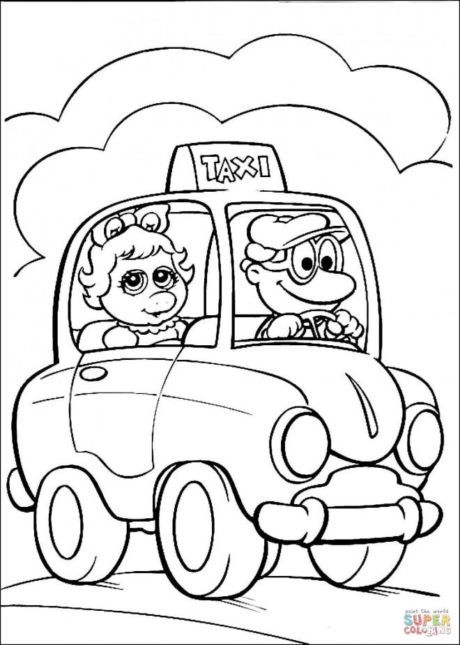 Coloriage et dessins gratuits Un Taxi magique à imprimer