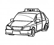 Coloriage Voiture Taxi