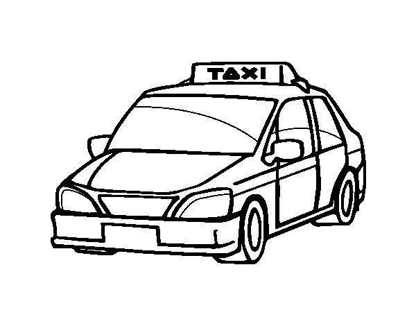Coloriage voiture taxi dessin gratuit imprimer - Coloriage car anglais ...