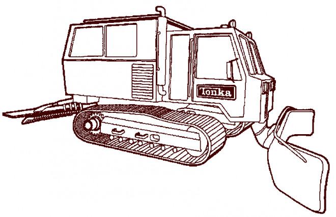 Coloriage et dessins gratuits Bulldozer à chenilles à imprimer