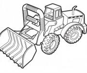 Coloriage Bulldozer à télécharger