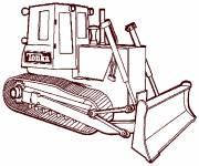 Coloriage et dessins gratuit Bulldozer Tonka facile à imprimer